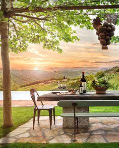 #sunset #Tuscany #Italy