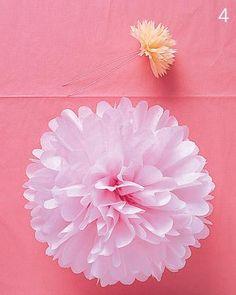VCTRY's BLOG: Pompones o flores colgantes de papel, muy faciles