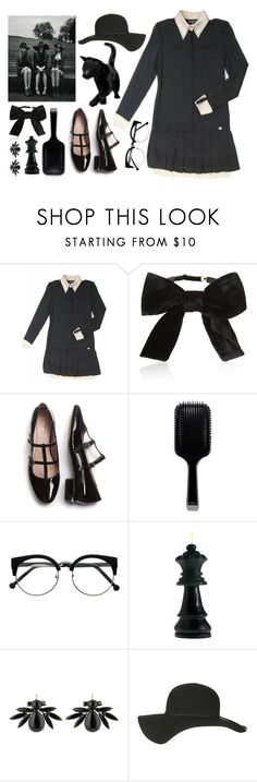 """""""On Wednesdays We Wear Black"""" by angelc ❤ liked on Polyvore featuring Chanel, Yves Saint Laurent, GHD, Konplott, Topshop and americanhorrorstory"""