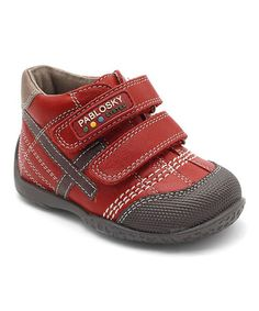 Take a look at this Pablosky Red Two-Strap Sneaker by Pablosky on #zulily today!