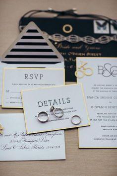 classic wedding invitation; Photo: Kallima Photography