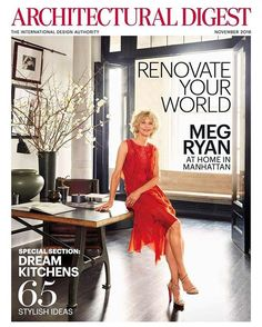 According to a story in this month's Architectural Digest, actress and director Meg Ryan has renovated an astounding nine homes, which is making our inability to decorate one small apartment feel all that much more troubling. Soho Loft, Ryan Homes, New York City Apartment, Bedroom Wall Colors, Luxury Homes Interior, Interior Design, Cool Apartments, Kitchen On A Budget, Architectural Digest