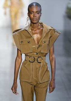Zimmermann SS19 Suit Fashion, High Fashion, Fashion Looks, Military Looks, Military Style, Simple Prom Dress, Boiler Suit, Playsuit Romper, Playsuits
