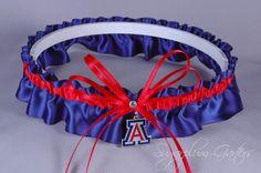 University of Arizona Wildcats Wedding Garter by sugarplumgarters, $27.99