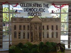 """Celebrating the Democratic Process"" display in the lobby. Follow the library on Facebook at http://www.facebook.com/pages/SDPL-College-Rolando-Branch-Library/150375248328848"