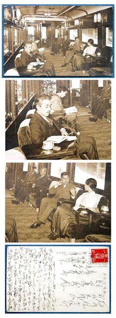일제강점기 사진엽서의 하나. 당시 경성과 부산을 오가던 특급 [아카즈키(あかづき=붉은 달)] 일등전망차의 호화스러운 모습으로 일본 고관 및 친일 상류인사들이 주로 이용했다.