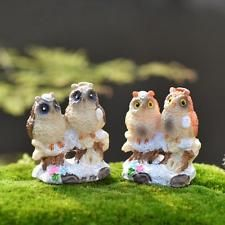 1Pcs Double Owl Snowflake DIY  Garden Craft Miniature Micro Gnome F0157