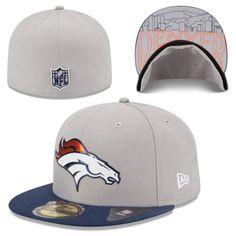 Men's Denver Broncos New Era Gray 2015 NFL Draft 59FIFTY Fitted Hat