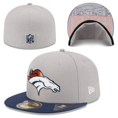 Men's Denver Broncos New Era Gray 2015 NFL Draft 59FIFTY Fitted Hat