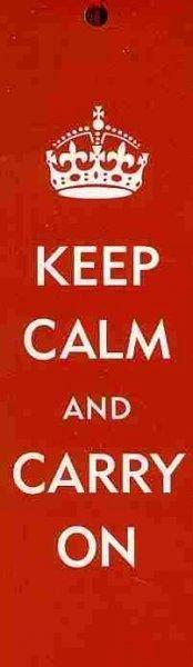 Keep Calm & Carry on Bookmark