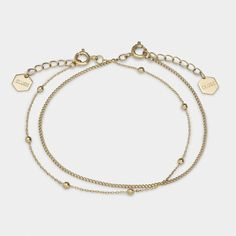 Essentielle Gold Set of Two Fine Bracelets
