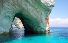 Blue Caves in Zakynthos Island, Greece