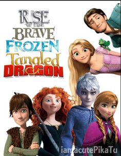 Rise of the Brave Frozen Tangled Dragon Wallpaper 2