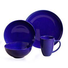Simpliss Cobalt 16Pc Set $29 now featured on Fab.  sc 1 st  Pinterest & Corelle Hearthstone Indigo Blue Square 15-Pc Dinnerware | Dinnerware ...