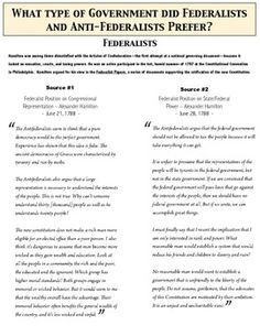 Anti Federalists Essays and Research Papers