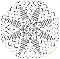 klikni pro další - Her Crochet Crotchet Patterns, Crochet Motifs, Granny Square Crochet Pattern, Crochet Diagram, Doily Patterns, Crochet Chart, Crochet Doilies, Crochet Flowers, Crochet Stone