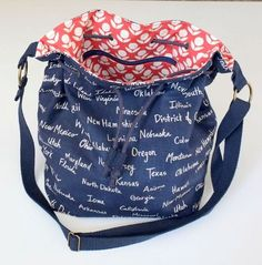 Free bucket bag sewing tutorial from Sew Mama Sew