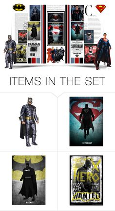 """""""Charachters Group New Contest - ✪ Batman vs. Superman ✪"""" by montse-gallardo ❤ liked on Polyvore featuring art"""