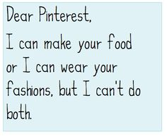 HA!  So true!!!  I pin all those amazing-looking desserts, but I know I can't eat them...