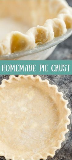 Amazing Homemade Pie Crust - buttery and flaky every single time! via @introvertbaker