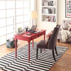 Clare Heirloom Red Helix-leg 2-drawer Desk | Overstock.com Shopping - Great Deals on Desks