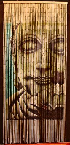Bamboo Beaded Curtain Buddha Doorway Room Divider 90 Sreands Nt Bb 01 Retro And