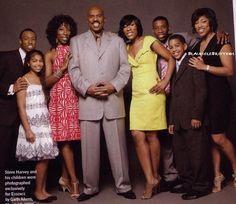 STEVE HARVEY LOVES HIS BLENDED FAMILY - Black Celebrity Kids