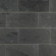 "Janeiro Slate Tile Montauk Black / 12""x24"" / Natural"