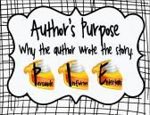 Author's Purpose Posters, Graphic Organizer & Chart product from All-Things-Picture-Books on TeachersNotebook.com