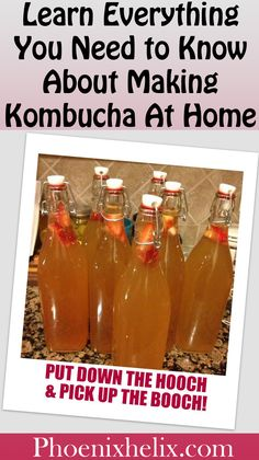 How to Make Homemade Kombucha and Have Fun with Flavors! How To Brew Kombucha, Kombucha Recipe, Kombucha Brewing, Kombucha Tea, Probiotic Foods, Fermented Foods, Real Food Recipes, Healthy Recipes, Healthy Breakfasts