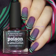Gradient stamping over two fabulous @picturepolish LE Vampy Chameleons shades…