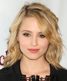Dianna Agron Medium Curls - Shoulder Length Hairstyles Lookbook - StyleBistro