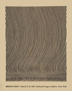 Bridget Riley, Richard Feigen Galley New York