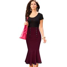 Good price Vfemage New Womens Vintage Pinup Elegant High Waist Slim Party Wear To Work Mermaid Pencil Fitted Bodycon Midi Skirt 120 just only $14.49 - 20.49 with free shipping worldwide  #womanskirts Plese click on picture to see our special price for you