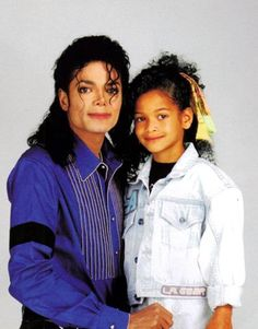 Photo of Michael Jackson and his niece Brandi Jackson for fans of Michael Jackson.