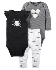 Polyester Green Cotton Size Nb Grey Baby Girls Adorable Bodysuit Set