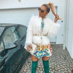 Material: Faux Fur Grey Maxi, Blue Maxi, Red Patent Leather Pumps, Dora Black, Black Two Piece, Catwalk Collection, Best Model, White Mini Dress, Faux Fur Jacket