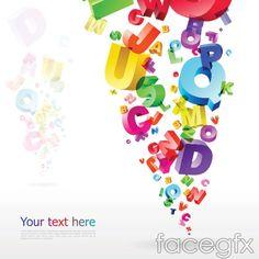 Colorful bubble color letters vector