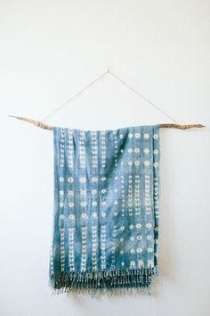 Vintage Indigo Stitch Dyed Hand Woven Throw