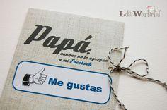 Regalo día del padre: DIY imprime la tarjeta gratis