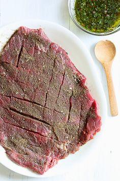 Grilled Flank Steak with Chimichurri | Skinnytaste