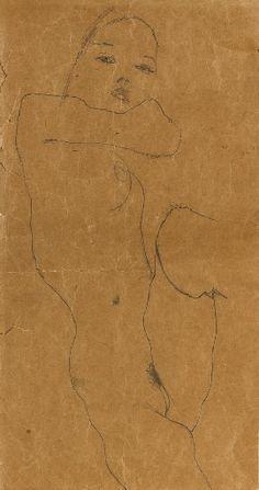 Egon Schiele, Female nude. 1911