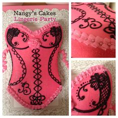 Lingerie Cake my sister made. Lingerie Cake, Lingerie Party, Dessert Food, Dessert Recipes, Corset Cake, Fun Cakes, Cakes And More, Amazing Cakes, Food Ideas