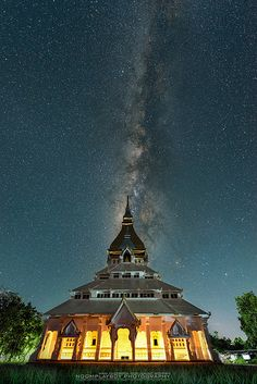 Milky Way with Temple Thailand   by noomplayboy