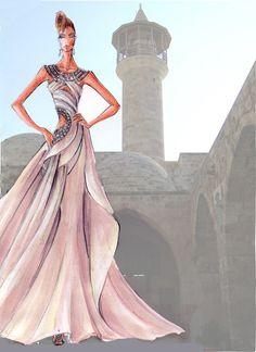 Blanka Matragi – sketch of dresses II, 2012 by luxussilk