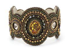 Бисерные браслеты с камнями Натальи Щербаковой