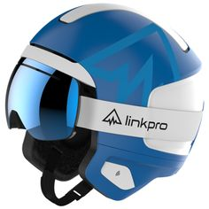LinkPro Sports ski helmet plus goggles. Includes radio communications, Bluetooth smartphone connection, and RECCO avalanche protection. High tech innovation for deep powder and high elevations. Snowboarding, Skiing, Tech Image, Ski Helmets, Push Bikes, Ski Gear, Headgear, Bicycle Helmet, Communication