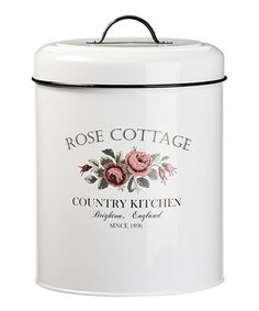 Another great find on #zulily! Large Rose Cottage Canister #zulilyfinds
