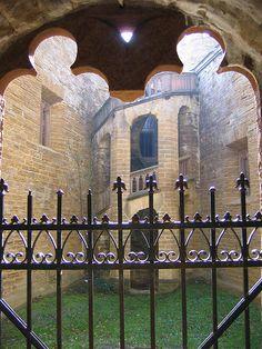 door, gate, windows, stairs