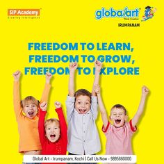 Globalart helps your children develop new skills and learn something new every day, helping them grow and find their passion. Enrol your child in the Globalart programme and give them the chance to explore their passion. Join Globalart Irumpanam now. Limited Seats Only. Call us for more details: 98956 60000 #Globalart #Kochi #Irumpanam #Art #Creativity #Drawing #Imagination Kochi, Global Art, Imagination, Creativity, Join, Passion, Explore, Drawing, Learning